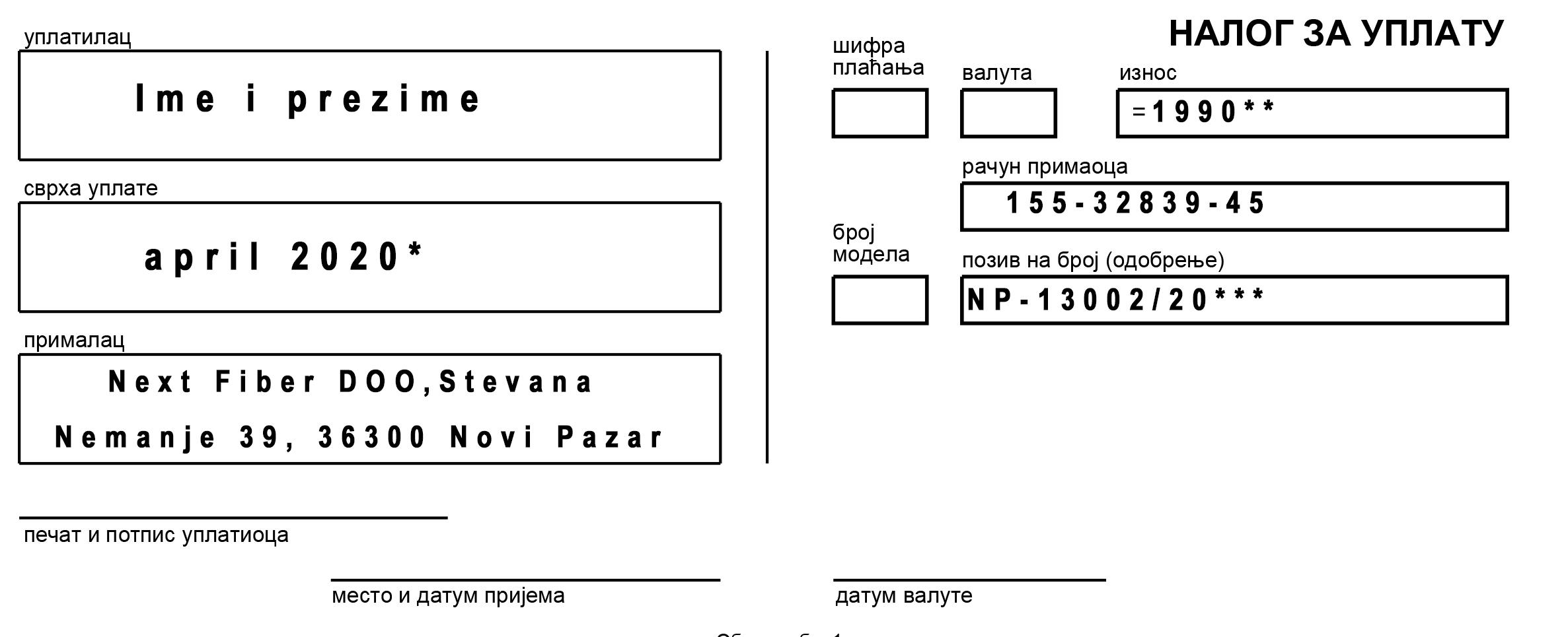 Plaćanje računa elektronskim putem